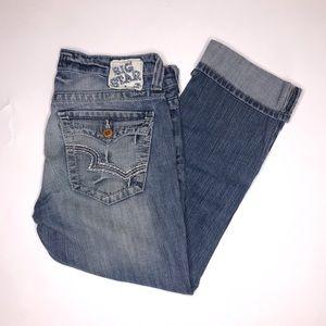 Big Star   Flap Pocket Cuffed Crop Capri Jeans